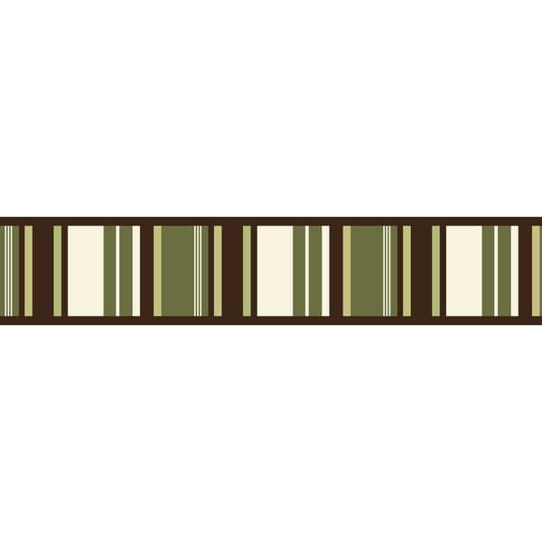 Sweet JoJo Designs Green and Brown Ethan Modern Wall Border