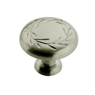 Amerock Inspirations1.325-inch Satin Nickel Cabinet Knob (Pack of 5)
