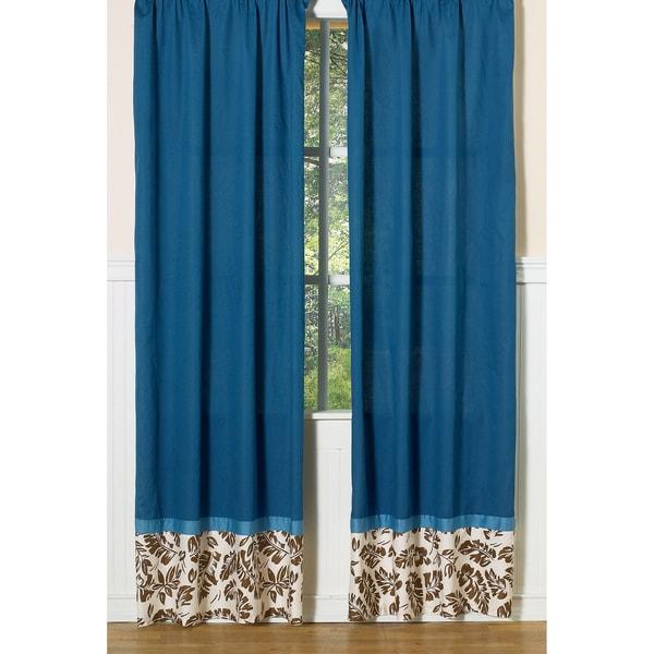 Tropical Hawaiian Surf 84-inch Curtain Panels Pair