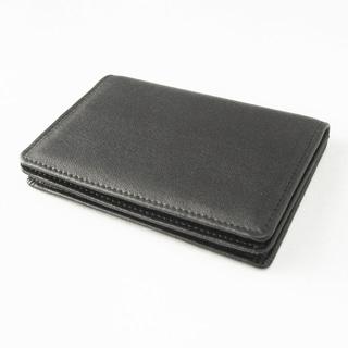 Tandi Men's Black Napa Leather Bi-fold Slim Wallet