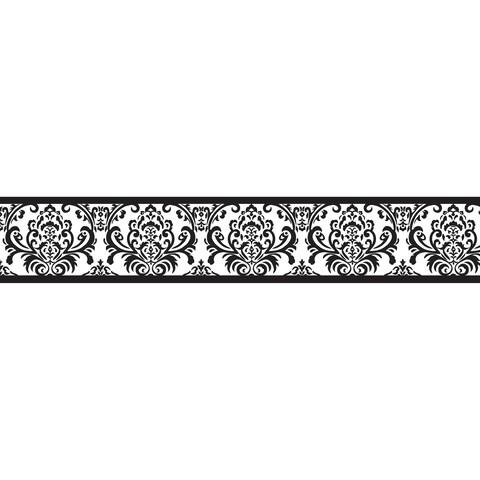 Sweet JoJo Designs Black and White Isabella Wall Border