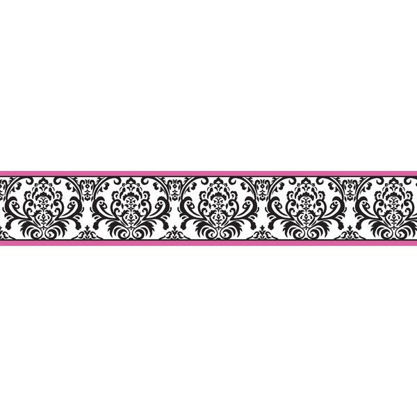 Pink Black And White Baby Girl Bedding
