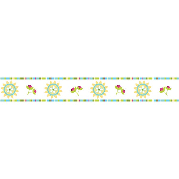 Sweet JoJo Designs Turquoise and Lime Layla Wall Border