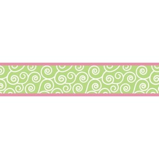 Sweet JoJo Designs Olivia Pink and Green Wall Border