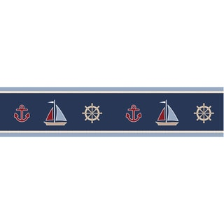 Sweet JoJo Designs Nautical Nights Sailboat Wall Border