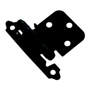 Amerock Flat Black 0.375-inch Offset Face Mount Self Closing Hinges (Pack of 10)
