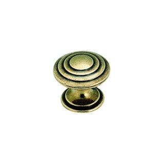 Amerock True Elegance 1.25-inch Burnished Brass Cabinet Knob (Pack of 5)
