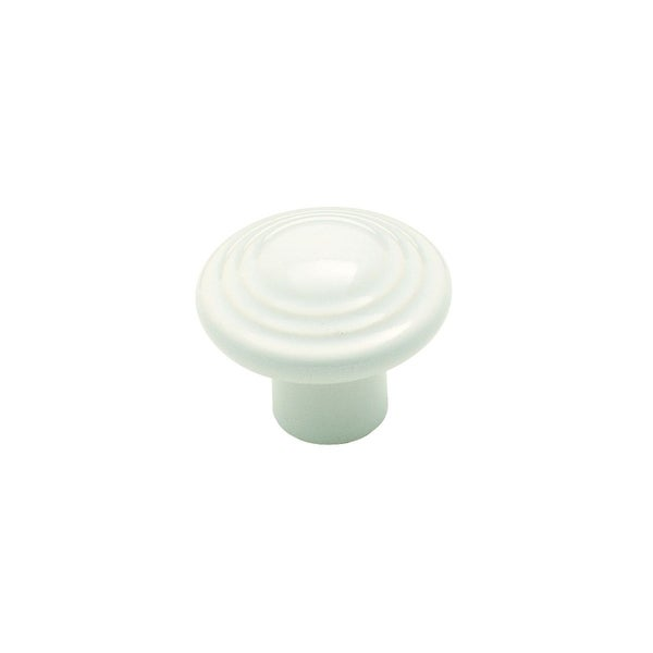 Amerock 3 Ring White Ceramic Cabinet Knob (Pack of 3)