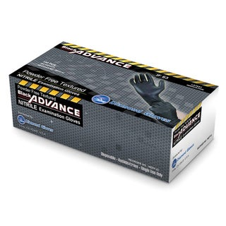 Diamond Gloves Black Advance Nitrile 6.3-mil Powder-free Heavy-duty Examination Gloves (Case of 1,000)