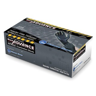 Diamond Gloves Black Advance Nitrile 6.3-mil Powder-free Heavy-duty Examination Gloves (Case of 1,000) (4 options available)