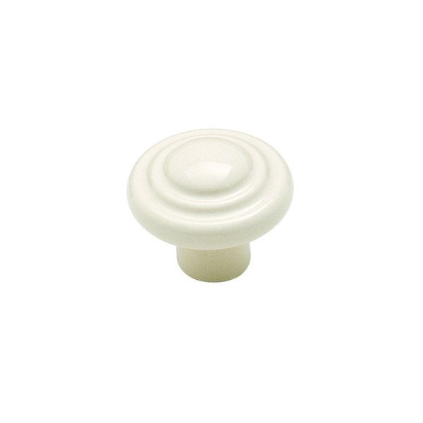 Amerock White Ceramic Two-ring Cabinet Knobs (Pack of 5)