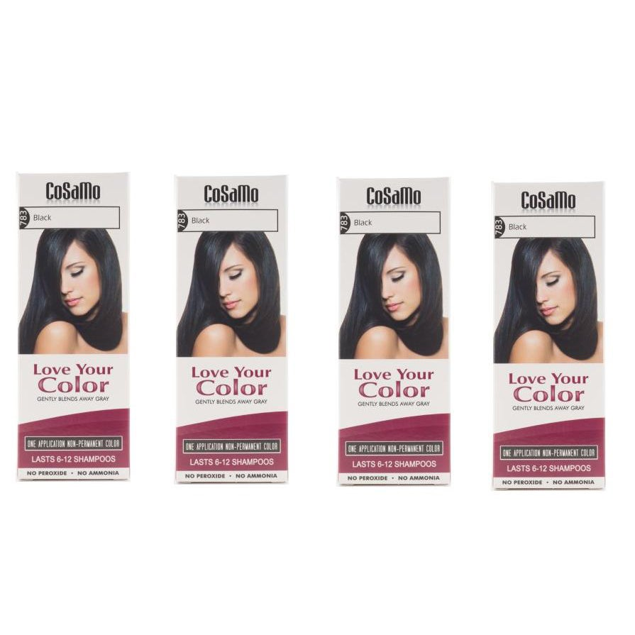 CoSaMo Love Your Color 783 Black Hair Color (Pack of 4) (...