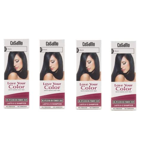CoSaMo Love Your Color 783 Black Hair Color (Pack of 4)