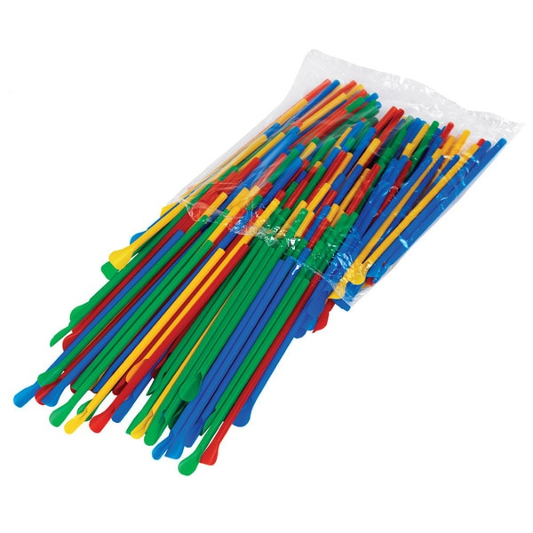 Paragon Multicolored Spoon Straws (Pack of 200)