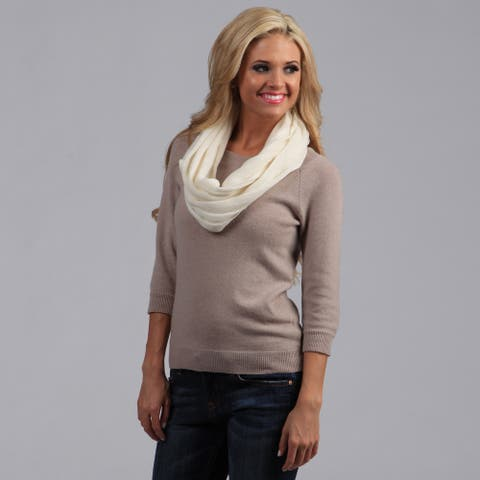 Peach Couture Cashmere Infinity Loop Scarf