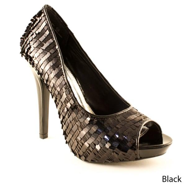 Dereon Women's 'TNT' Metallic Peep Toe Heels