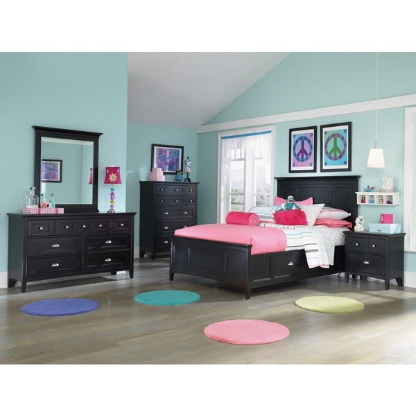 Bennett Full-size Panel Bed with Regular Rail and Storage