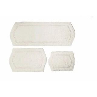 Ivory Memory Foam 3-piece Bath Mat Set - includes BONUS step out mat