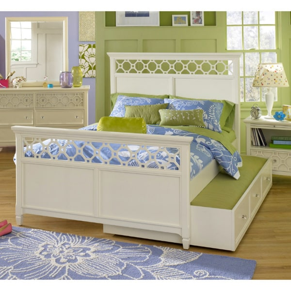 shop cameron twin size panel bed with pull out storage free shipping today overstock 7707481. Black Bedroom Furniture Sets. Home Design Ideas