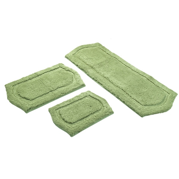 Sage Green Memory Foam 2-piece Bath Mat Set - includes BONUS step out mat
