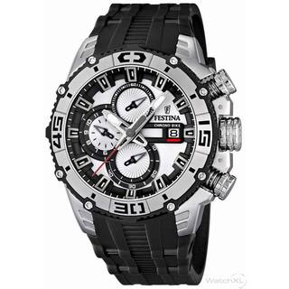 Festina Men's Tour De France F16600/1 Black Rubber White Dial Quartz Watch