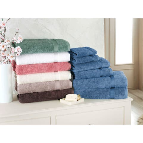 Luxury Turkish 6 PC Villa Collection Towel Set