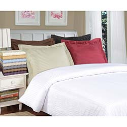 Superior Microfiber Stripe 3-piece Duvet Cover Set