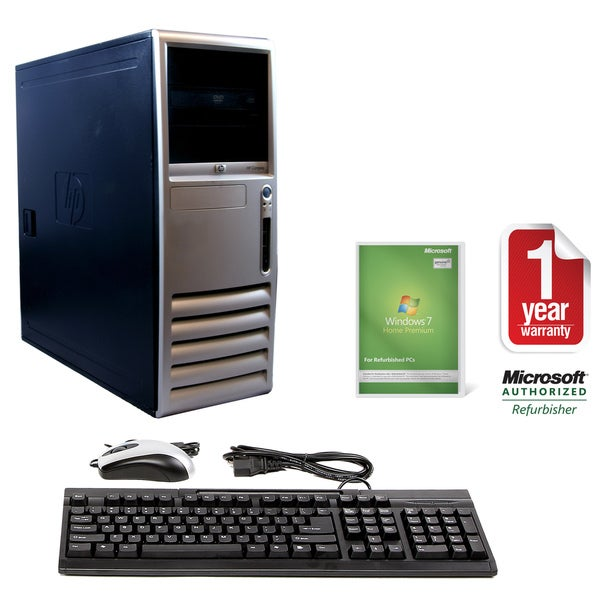 HP Compaq DC7700 Intel Core 2 Duo 1.86GHz CPU 2GB RAM 80GB HDD Windows 10 Home Minitower Computer (Refurbished)
