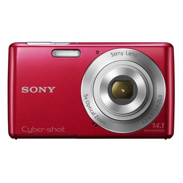 Sony Cyber-shot DSC-W620 14.1MP Red Digital Camera