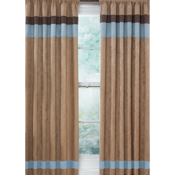 shop sweet jojo designs sky blue chocolate brown and camel 84 inch window treatment curtain. Black Bedroom Furniture Sets. Home Design Ideas
