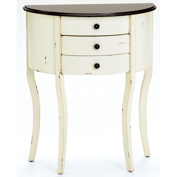 Bernards Off White Three Drawer Table
