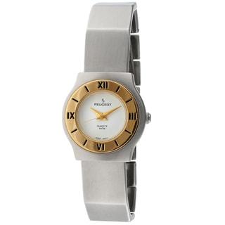 Peugeot Vintage Deco Style Silvertone Bracelet Watch