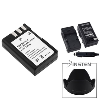 INSTEN Battery/ Charger/ Hood for Nikon D3000/ D40X/ D60