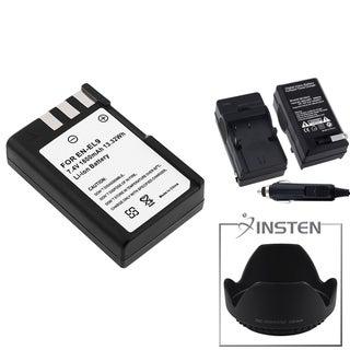 INSTEN Battery/ Charger/ Hood for Nikon D3000/ D40X/ D60
