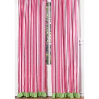 Sweet Jojo Designs Pink Green And White 84 Inch Window Treatment Curtain Panel Pair