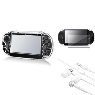 INSTEN Headset/ Crystal Case Cover/ LCD Protector for Sony Playstation Vita