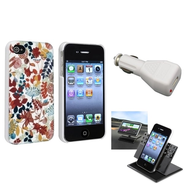 BasAcc Case/ Dashboard Mount/ Charger for Apple iPhone 4/ 4S