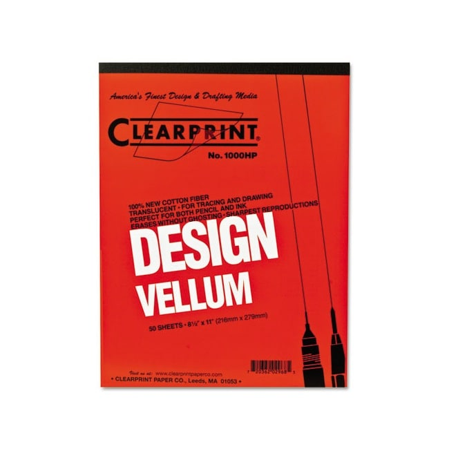 Clearprint Design Vellum Paper Pad (50 Sheets) (Vellum Pa...