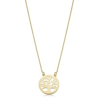 Fremada 14k Yellow Gold Tree Of Life Adjustable Necklace