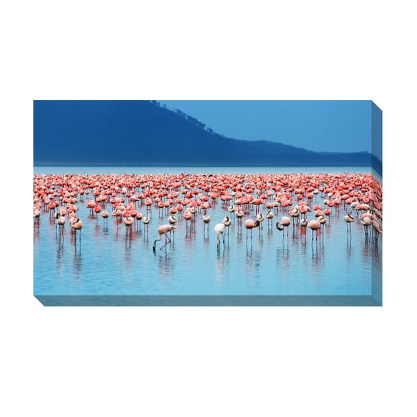 Gallery Direct Flamingos Oversized Gallery Wrapped Canvas