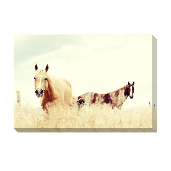 Gallery Direct Paradise Horses Oversized Gallery Wrapped Canvas