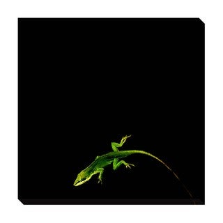 Gallery Direct Green on Black Oversized Gallery Wrapped Canvas