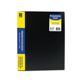 C-Line Black 12-sheet Protector Bound Presentation Book