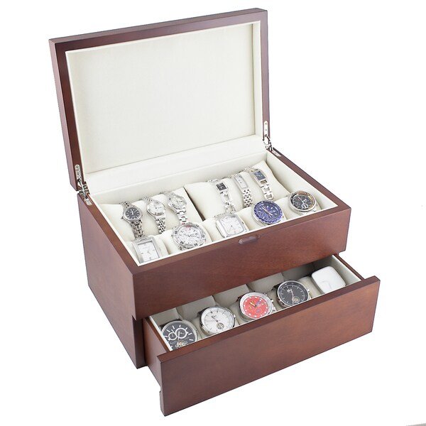 Dual Level Vintage Wooden Watch Case