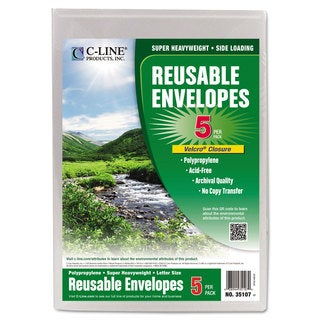 C-Line Clear Poly Fastened File Envelopes (Pack of 4)