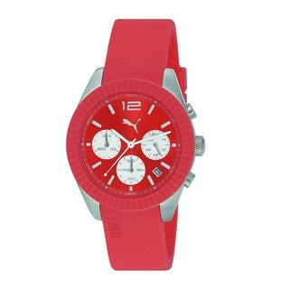 Puma Women's Motor Orange Rubber Quartz Watch
