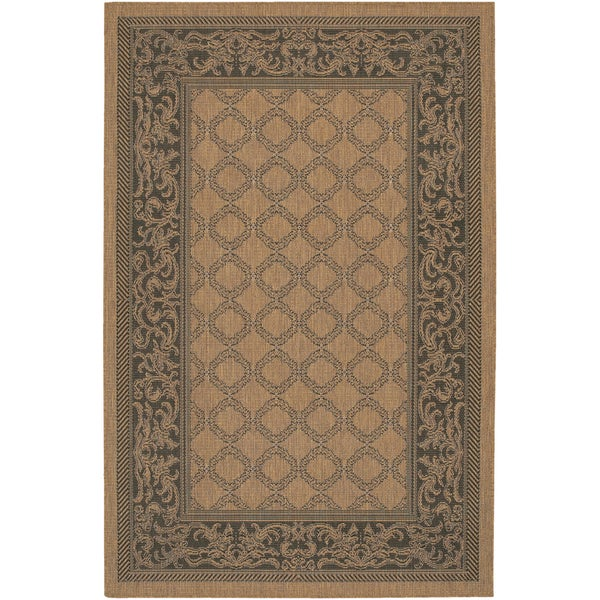 Recife Garden Lattice Cocoa- Black Indoor/Outdoor Rug - 8'6 x 13'