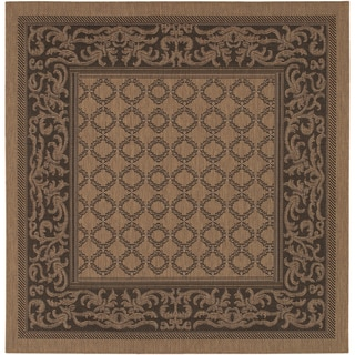 Recife Garden Lattice Cocoa/ Black Rug (8'6 x 8'6)
