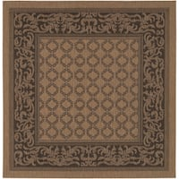 Recife Garden Lattice Cocoa/ Black Rug - 8'6 x 8'6