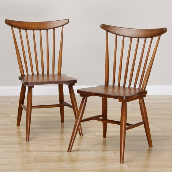 Antique Windsor Chairs Dining: Shop Sterling Windsor Antique Honey Dining Chair (set Of 2